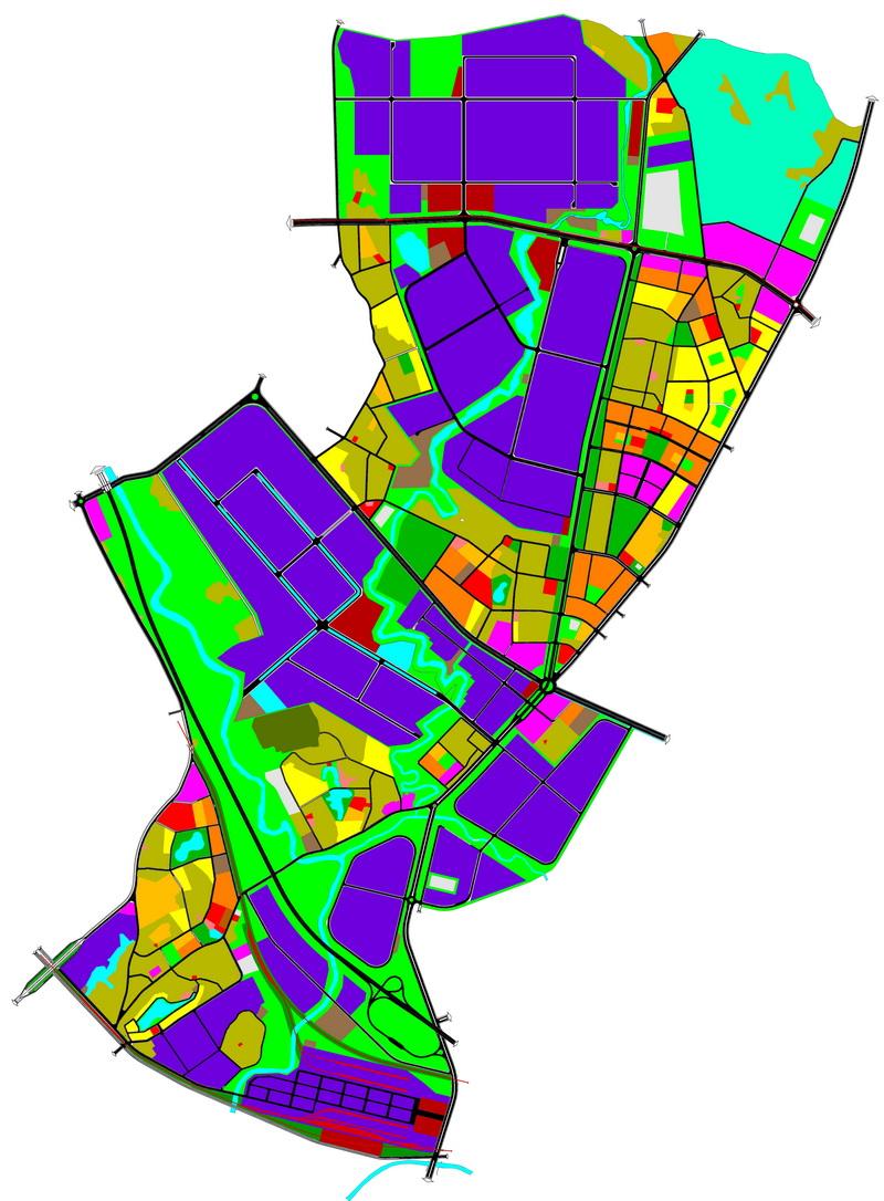 Quy hoạch tổng mặt bằng sử dụng đất Quy hoạch phân khu C4 tỷ lệ 1/2000 phát triển công nghiệp và đô thị phụ trợ tại huyện Bình Xuyên theo Quy hoạch chung đô thị Vĩnh Phúc, tỉnh Vĩnh Phúc