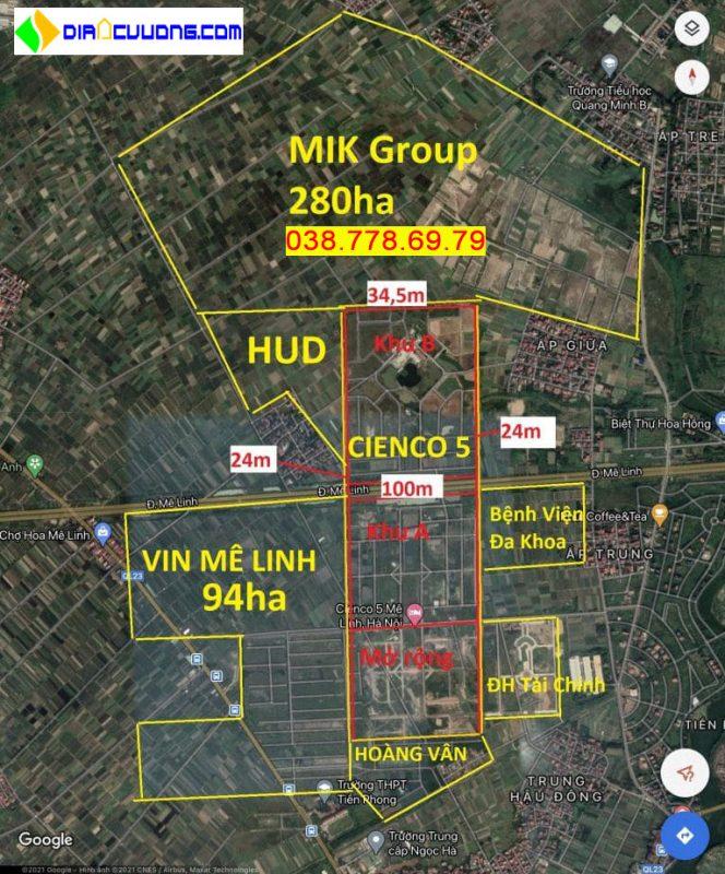 Các dự án xung quanh dự án AIC Mê Linh đang được Vingroup đàm phán mua lại