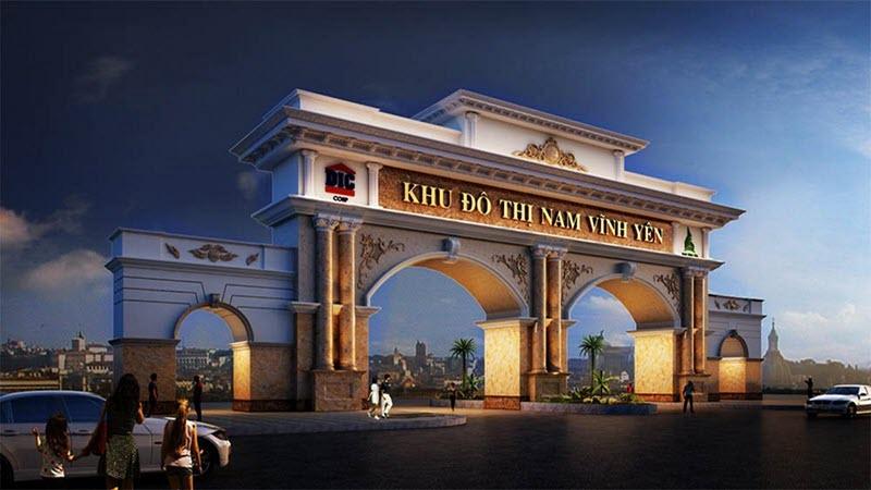Cổng trào Khu đô thị Nam Vĩnh Yên