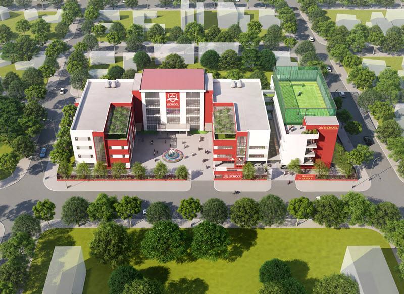Phối cảnh trường học Khu đô thị Nam Vĩnh Yên