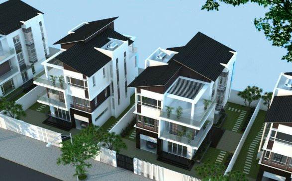 Trong khuôn viên đất biệt thự có thể thiết kế thêm vườn cây xanh, bể bơi... - Khu đô thị Nam Vĩnh Yên