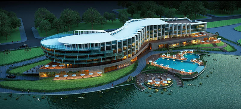 Toàn cảnh Khách sạn Dic Star tiêu chuẩn 4 sao Khu Đô Thị Nam Vĩnh Yên